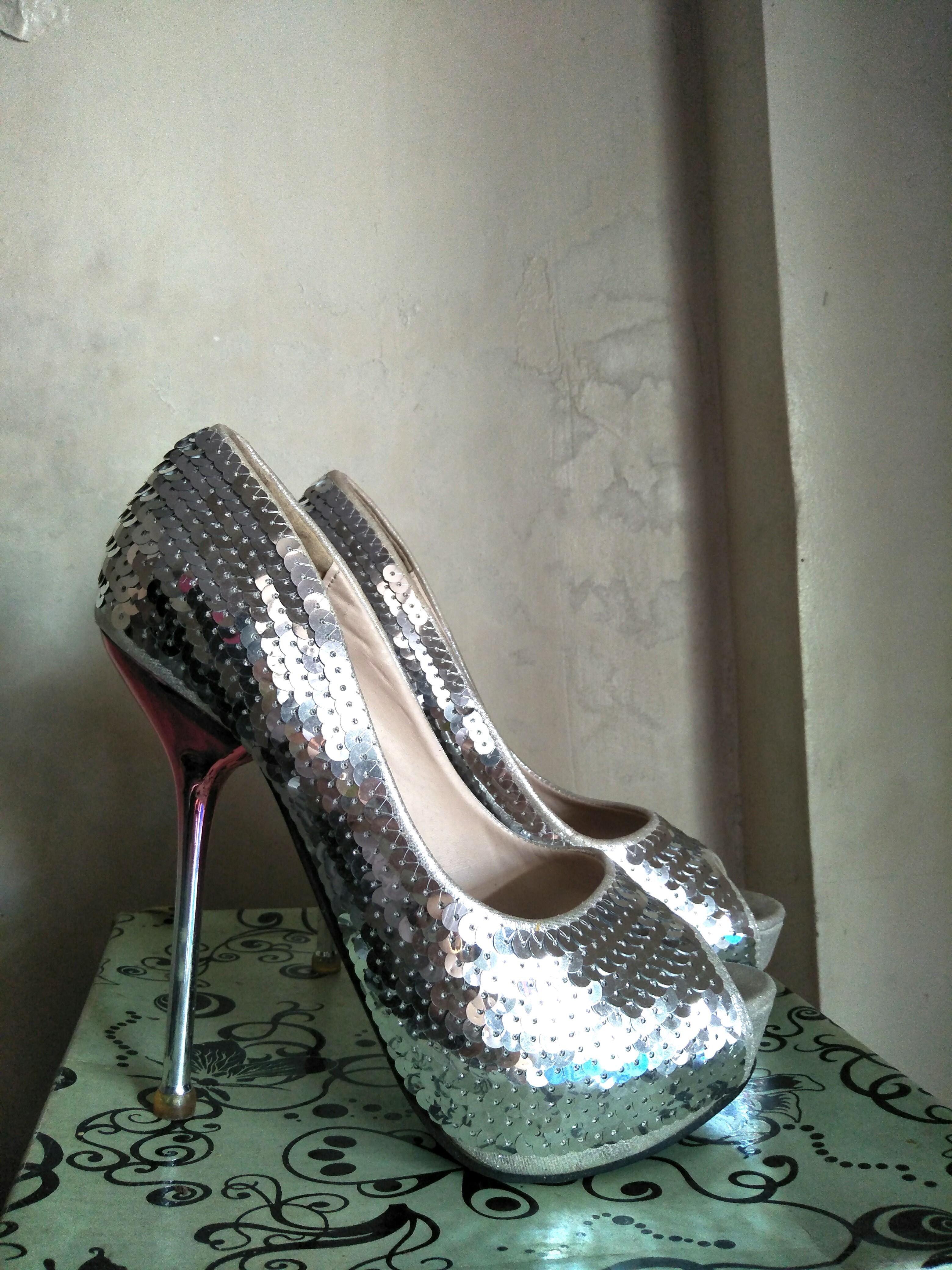 caaef611f7b Silver Stilettos