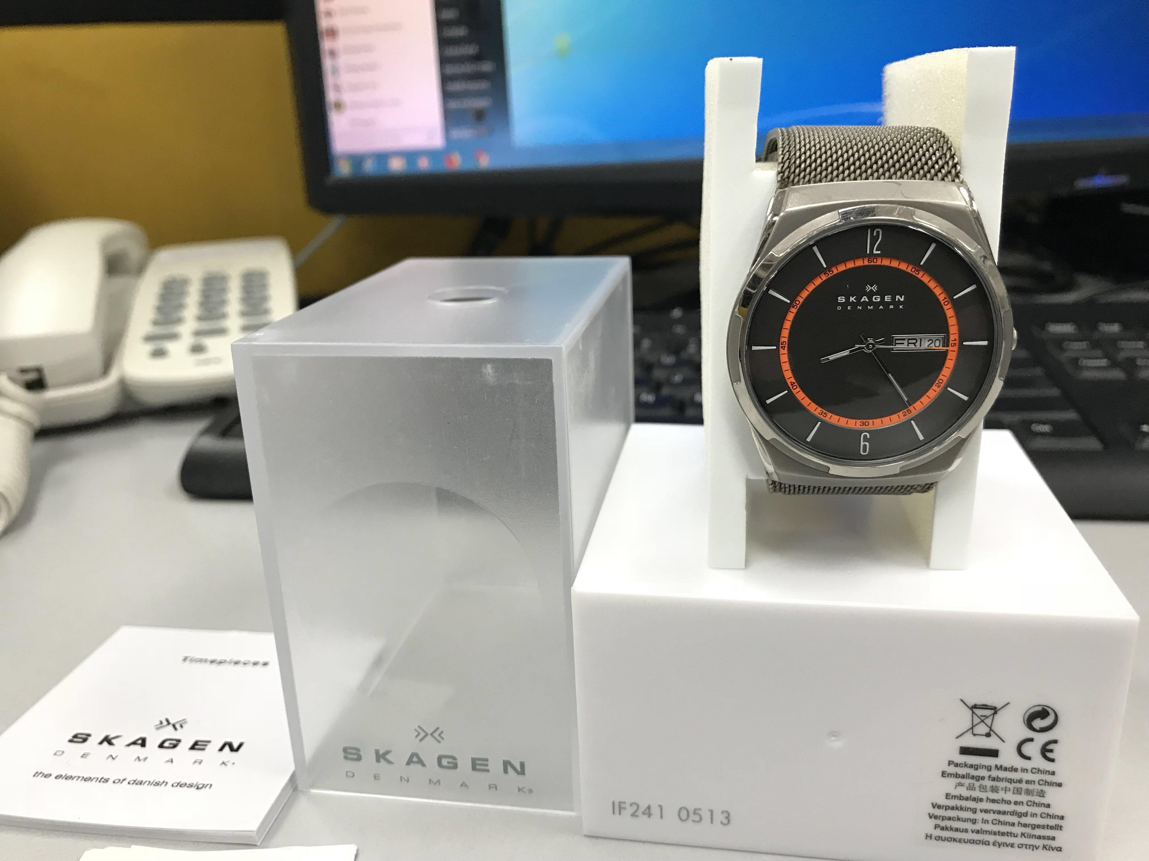 skagen grey titanium watch 8e1b3999