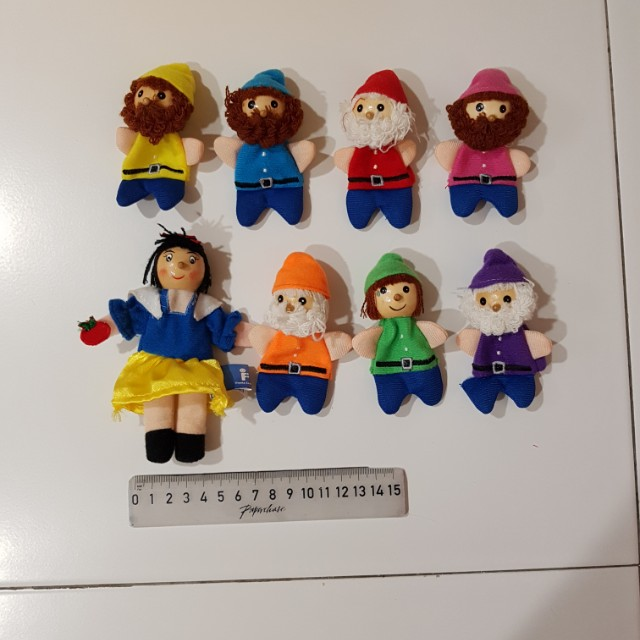 Snow White And The Seven Dwarfs Finger Puppets, Toys