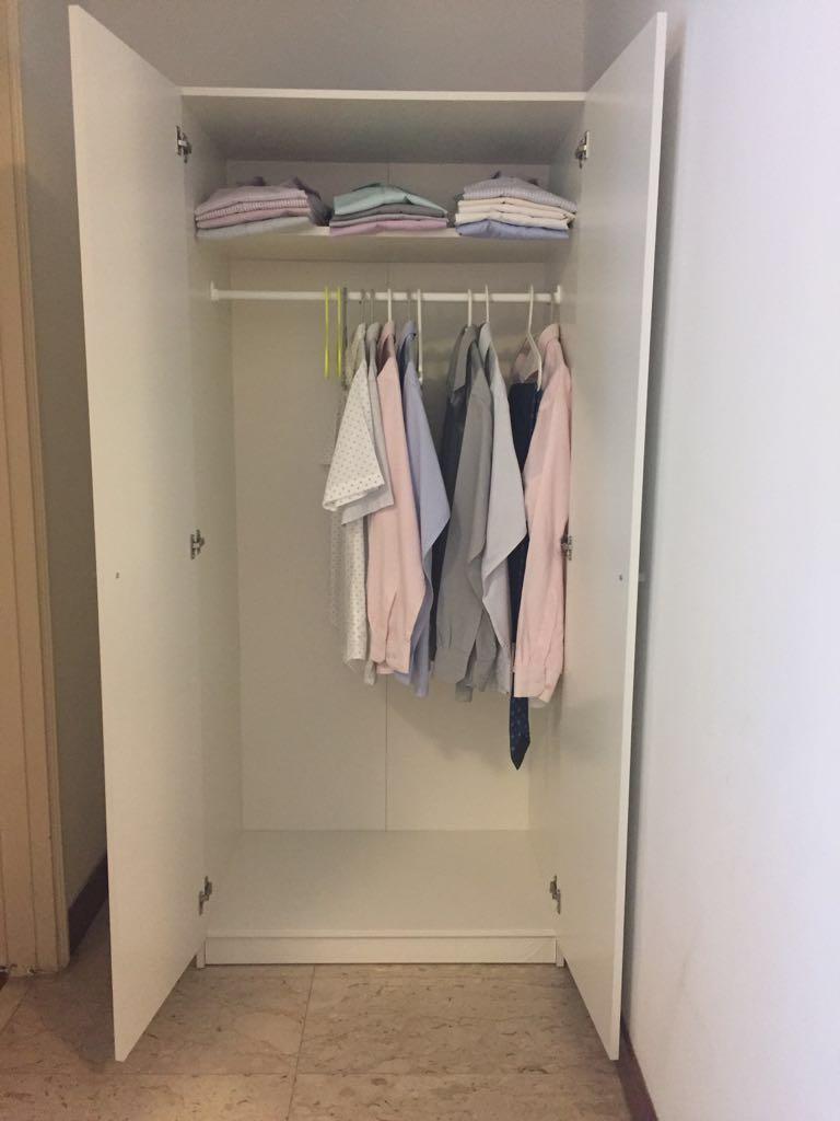 Wardrobe Ikea Bostrak 80x50x180cm Furniture Shelves
