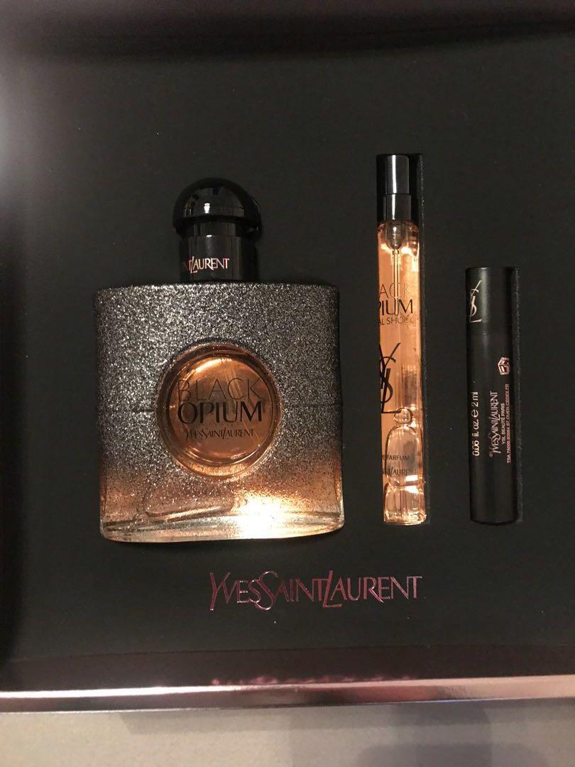 YSL Black Opium Floral Set