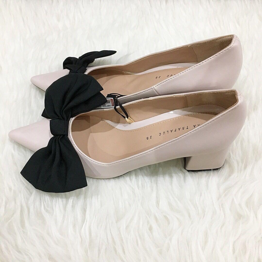 e49da7270bd ZARA bow block heels