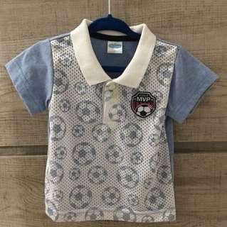 Jersey Type Polo Shirt