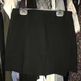 F21 Asymmetrical Black Skirt