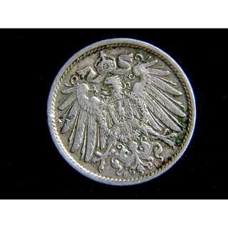 1910年德意志帝國皇家大鷹國徽10分寧鎳幣(德皇威廉二世時期)