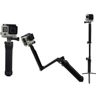 (Action camera selfie stick) 自拍棍  三折棍 可用  gopro hero sessionr Gopro go pro hero5/4/3 山狗 小米 小蟻 運動相機