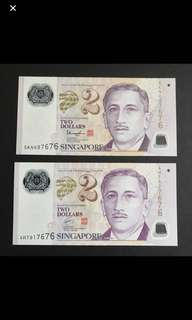 2 Pieces Of $2 Notes