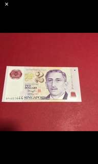 Singapore $2 Note