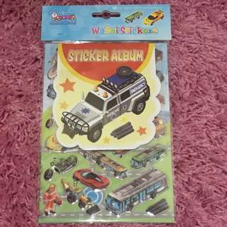 Sticker Set with Album <Vehicles>