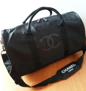 Chanel Travel Bag Logo Hitam