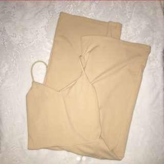 Nude Jumpsuit / Culottes
