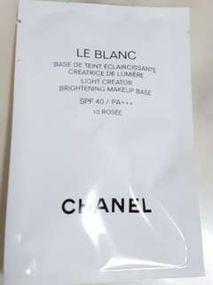 Chanel Le Blanc Brightening Makeup Base 10 Rosee SPF40 PA+++ 2.5ml Balanced and Light Infused Complexion