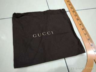 Gucci dustbag made in italy 9.5 x 9 inch