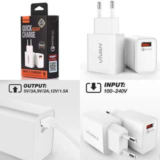 Charger vivan PS 3.0 quick charge 1 port