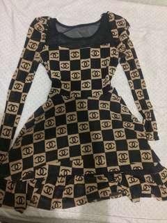 Korean dress brown