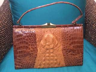 Authentic Vintage crocodile leather bag from Japan