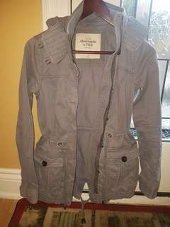 ABERCROMBIE & FITCH SPRING JACKET - GREY - LIKE NEW