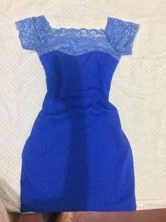 Blue laced dress preloved