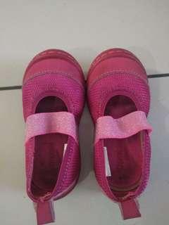 Original osh kosh pink glitter shoes