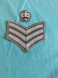 英軍 Staff SGT 恤衫徽