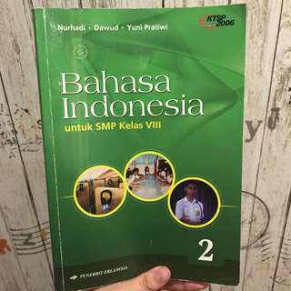 Buku Bahasa Indonesia Erlangga SMP Kelas VIII/8