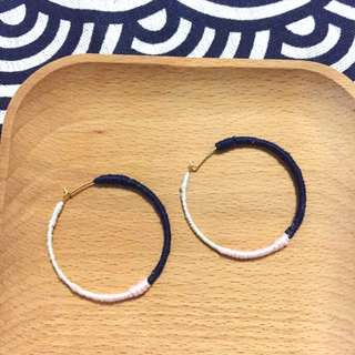 Minimalistic Colourblock Ear Hoops