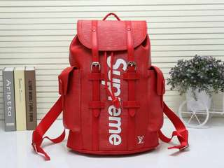 Louis Vuitton Supreme Red Backpack