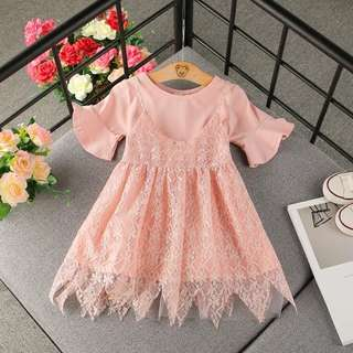 Kids fashion girl dress set