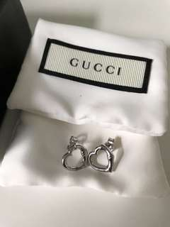 GUCCI HEART EARRINGS BRAND NEW IN BOX