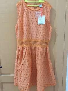 NEW! asos peach dress