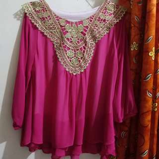 Baju pink / baju pesta / blouse