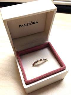 Pandora Diamond Silver Ring Evening Star 14k, Silver, 0.03CT, TW H/VS 鑽石銀戒指 Size 48