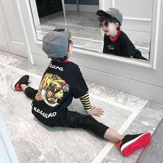 Kids fashion boy long sleeves tshirt