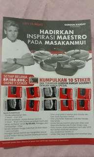 Sticker Lotte Gordon Ramsay Gourmet