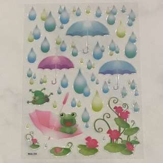 Bubble Raindrops Stickers