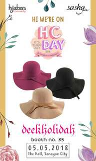 New Floppy Hat Wool Felt Lembut Topi Pantai Summer Hat
