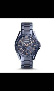 Fossil RILEY MULTIFUNCTION BLUE STAINLESS STEEL WATCH