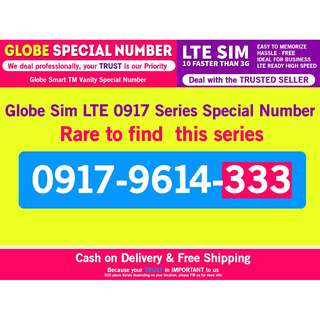 Globe 0917 Special Sim Card