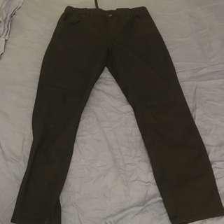 uniqlo束腰長褲/trousers