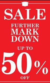 Mark down!!!!