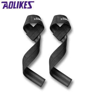 AOLIKES Lifting Strap Wrist Wrap Support Straps Wraps Tali Angkat Besi