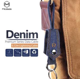 Mcdodo Kabel Data Denim Iphone 5 6 7 8 X Cable Key Chain