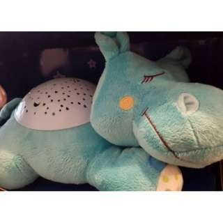 SLUMBER BUDDIES DOZING HIPPO (NOT USED, In box)