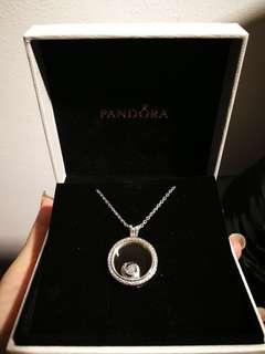 Pandora Medium Sparkling Floating Locket Necklace