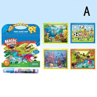 Toy Educational Non-toxic Disney Magic Water Drawing Book Coloring Doodle Pen