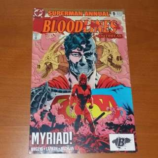 Vintage 1993 DC Comics, Superman Bloodlines Outbreak