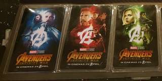 Limited Edition Marvel Avenger card ( Collection 5pcs )..