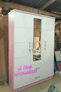 Lemari pakaian pink minimalis murah. Gratis ongkir jabotabek