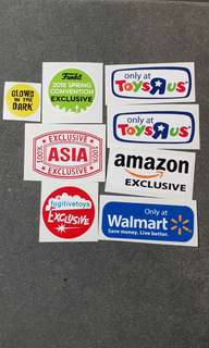 (INSTOCK) Funko Pop Replacement Stickers