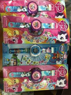 Little pony robocar projection watch